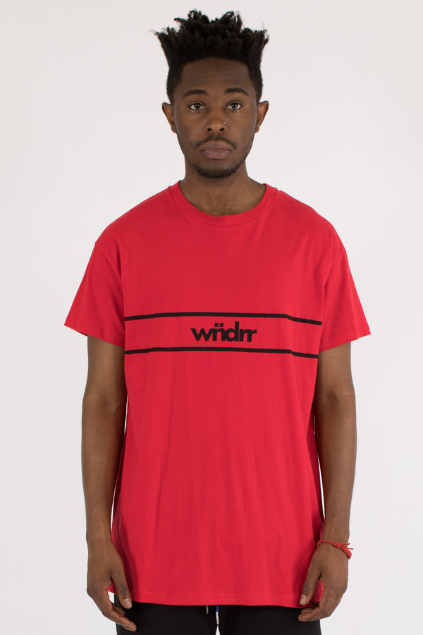 DISTRICT CUSTOM FIT TEE - RED
