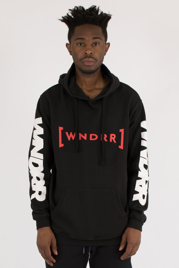 FORCE HOOD SWEAT - BLACK