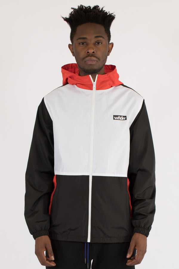 MIND BREAKER SPRAY JACKET  - BLACK/WHITE/RED