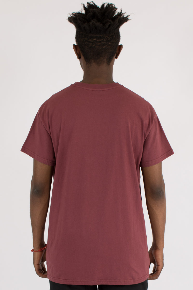 OVER-SHINE CUSTOM FIT TEE - BURGUNDY