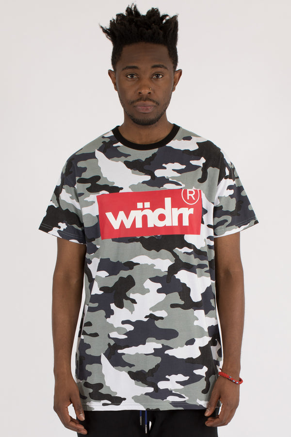 AUTHORITY CAMO CUSTOM FIT TEE - SNOW CAMO