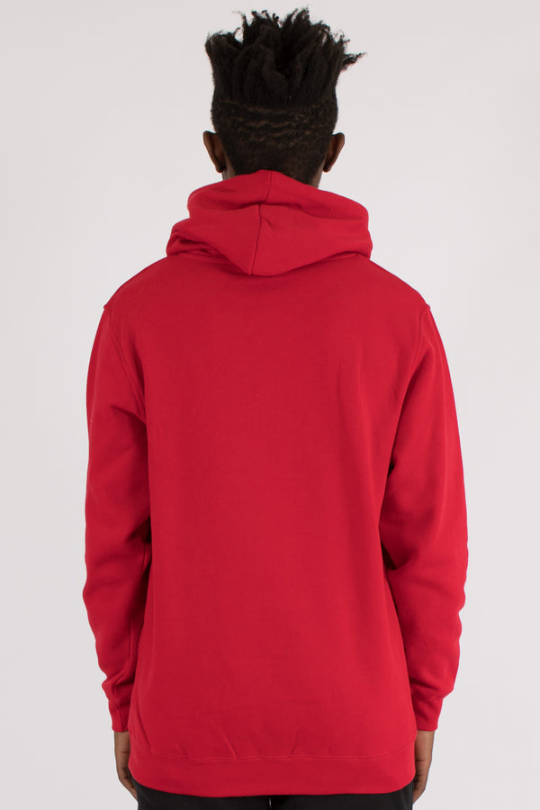 ACCENT HOOD SWEAT - RED
