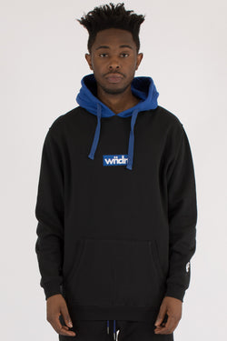 SEQUEL HOOD SWEAT - BLACK/BLUE