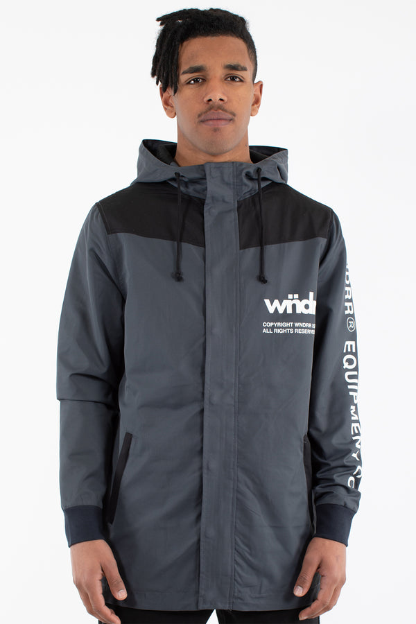 OFFCUT ANORAK JACKET - BLACK