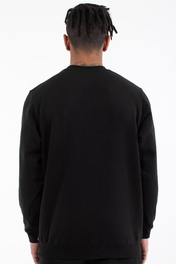 PATRON PANEL CREW SWEAT - BLACK