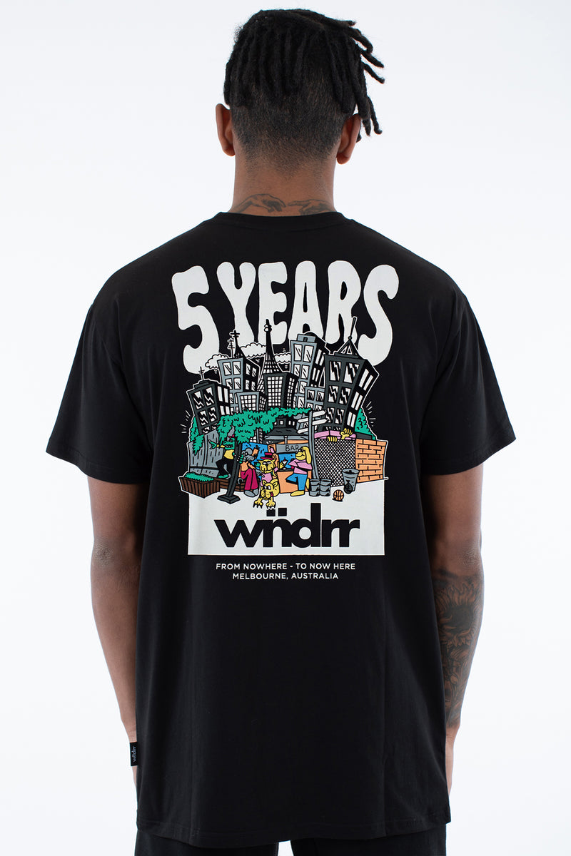 5 YEARS COLLAB TEE - BLACK