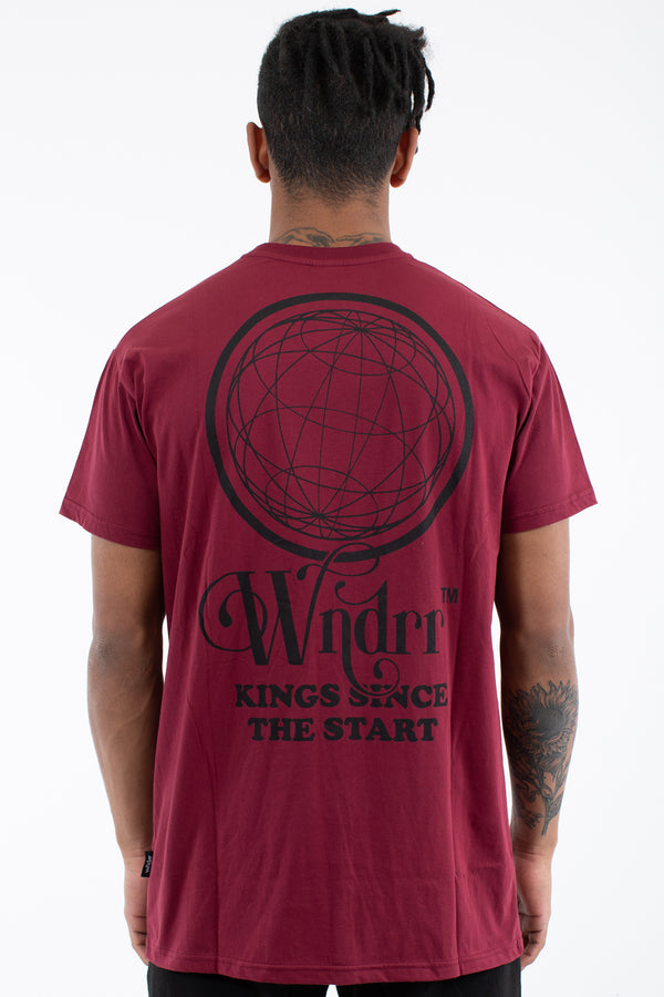 TANGLED CUSTOM FIT TEE - BURGUNDY