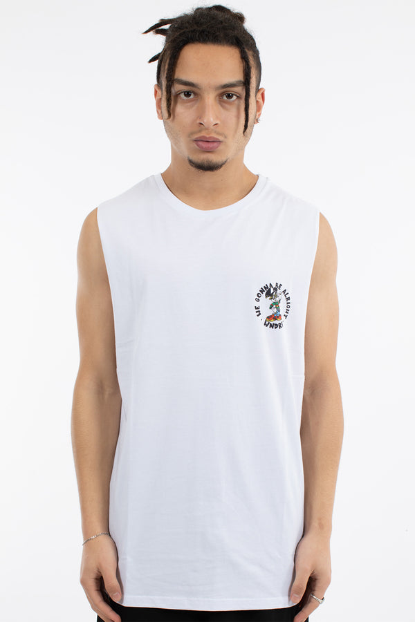 MICK MUSCLE TOP - WHITE