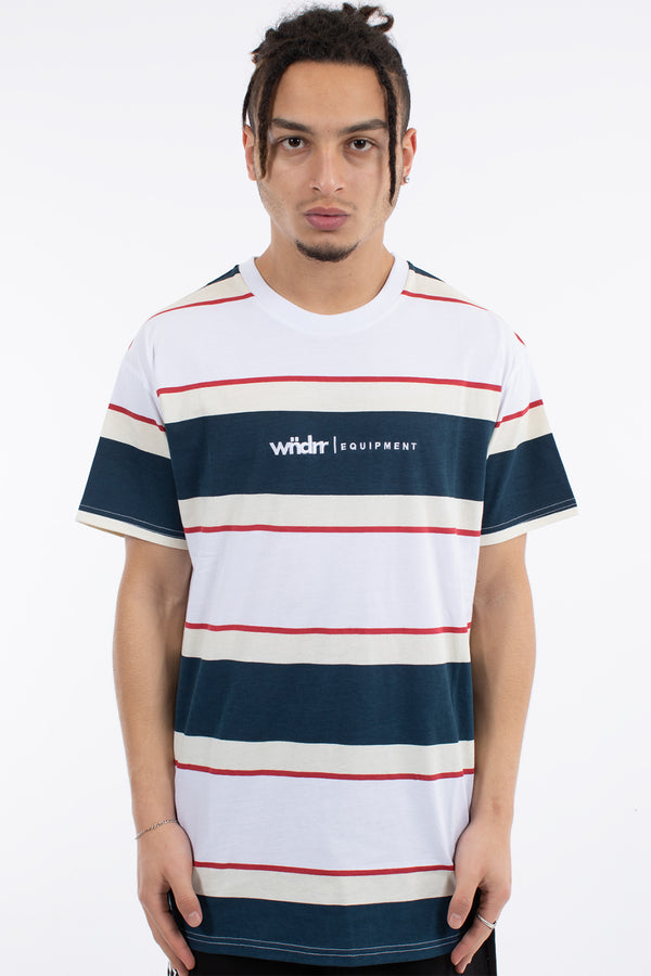 ELLIOTT STRIPE CUSTOM FIT TEE - NAVY