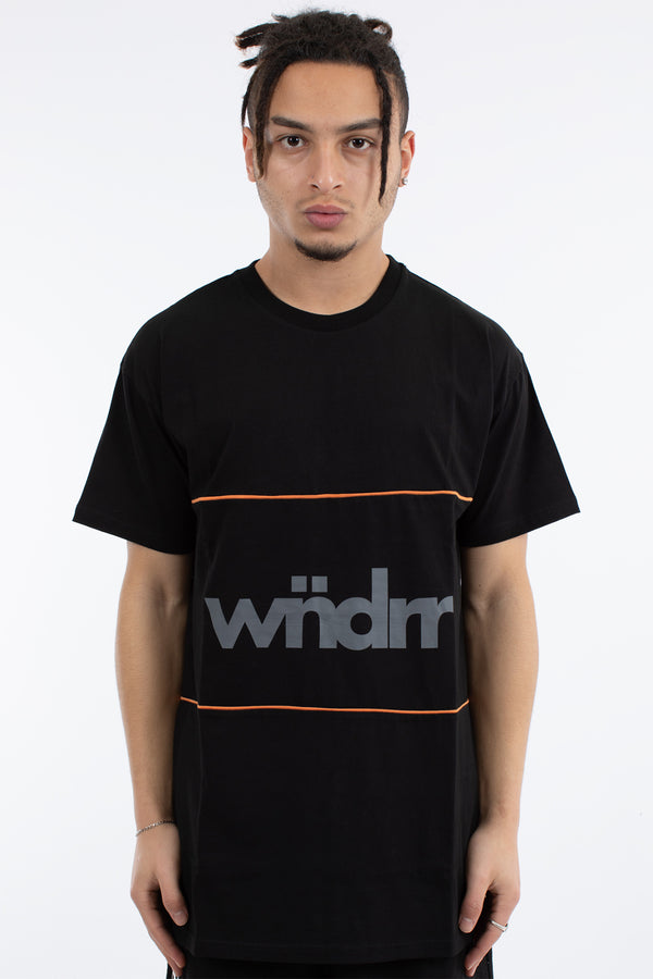 FIRST TAKE 3 PANEL CUSTOM FIT TEE - BLACK