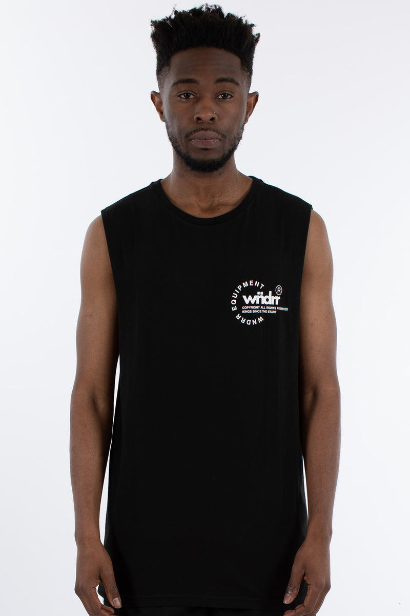 STAGE MUSCLE TOP - BLACK