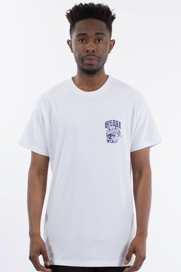 BULLDOG CUSTOM FIT TEE - WHITE