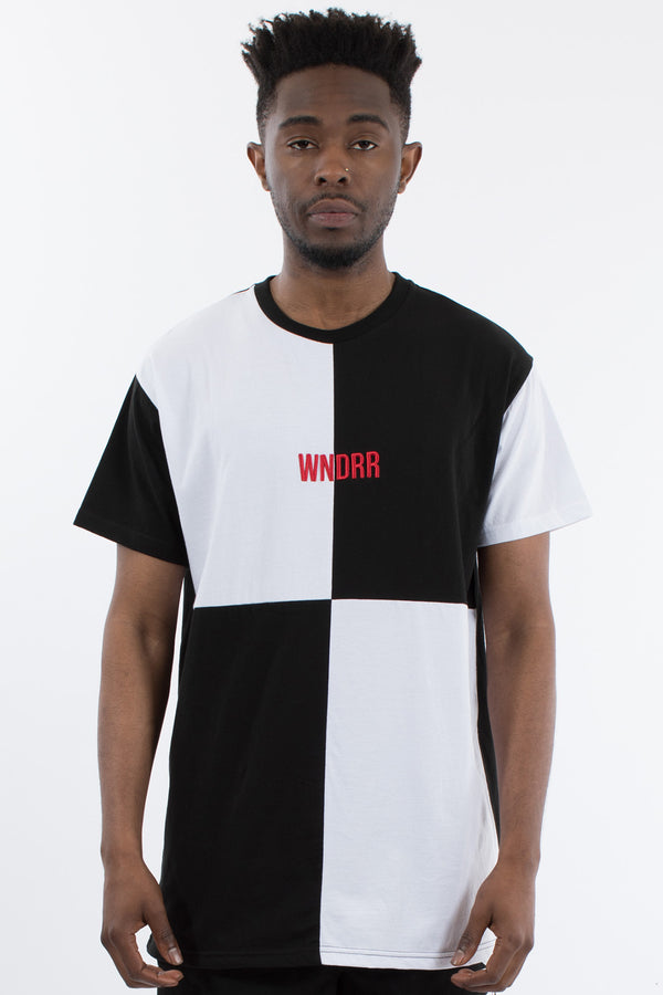 SCAR BLOCKED TEE- BLACK/WHITE