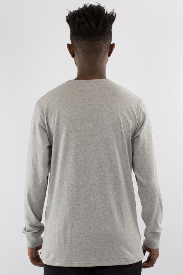 FRAUD L/S TEE - GREY MARLE