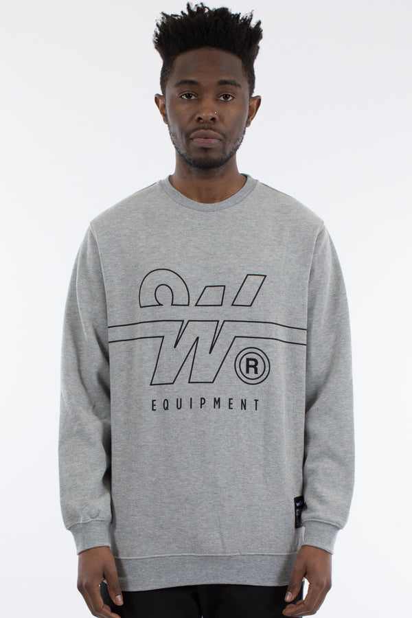 OVERTIME CREW SWEAT - GREY MARLE