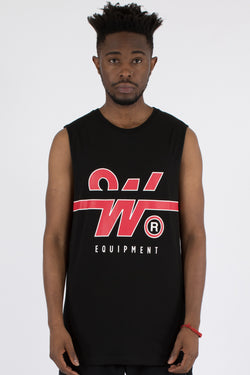 OVERTIME MUSCLE TOP - BLACK