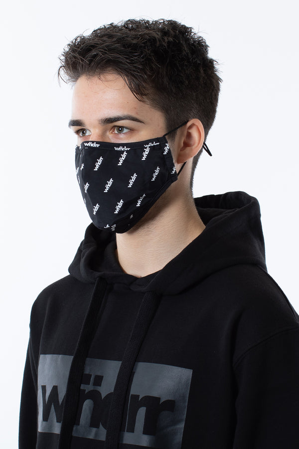 EMBLEM FACE MASK - BLACK