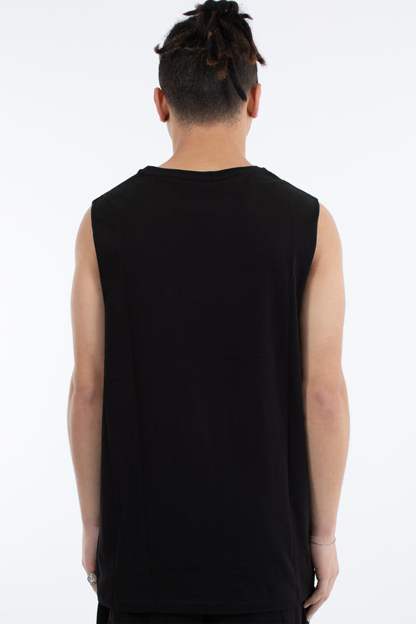 HOOPER MUSCLE TOP - BLACK
