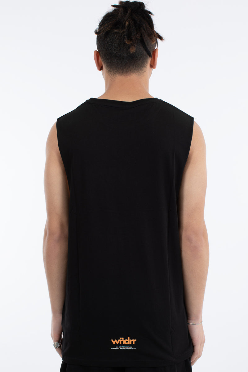 VHS MUSCLE TOP - BLACK
