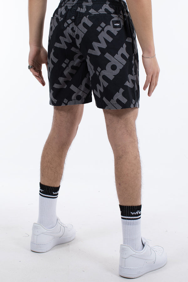 ALL OVER BEACH SHORT - BLACK