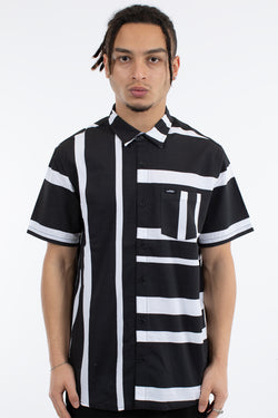 RIFT SHORT SLEEVE SHIRT - BLACK/WHITE