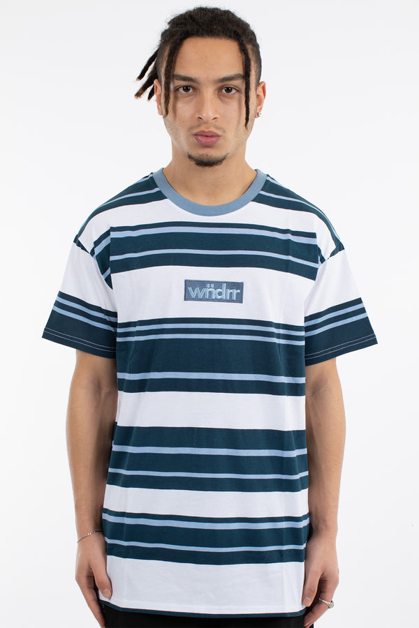 ROOKIE STRIPE CUSTOM FIT TEE - NAVY