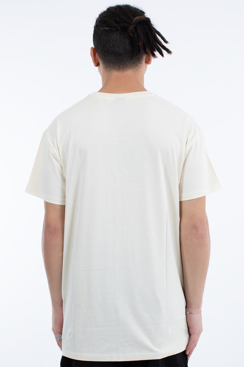 LYNCH 3 PANEL CUSTOM FIT TEE - OFF WHITE