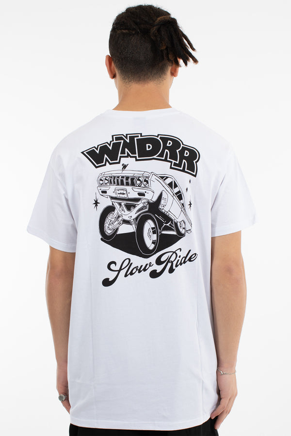 SLOW RIDE CUSTOM FIT TEE - WHITE