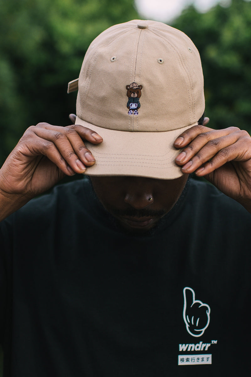 PABLO BEAR 6 PANEL CAP - TAN