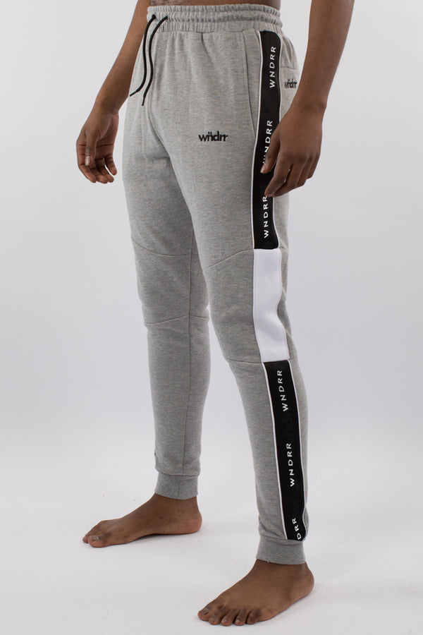 MARSHALL V2 TECH TRACKPANT - GREY MARLE/BLACK/WHITE
