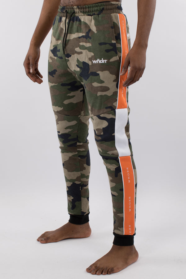 MARSHALL V2 TECH TRACKPANT - CAMO/ORANGE/WHITE