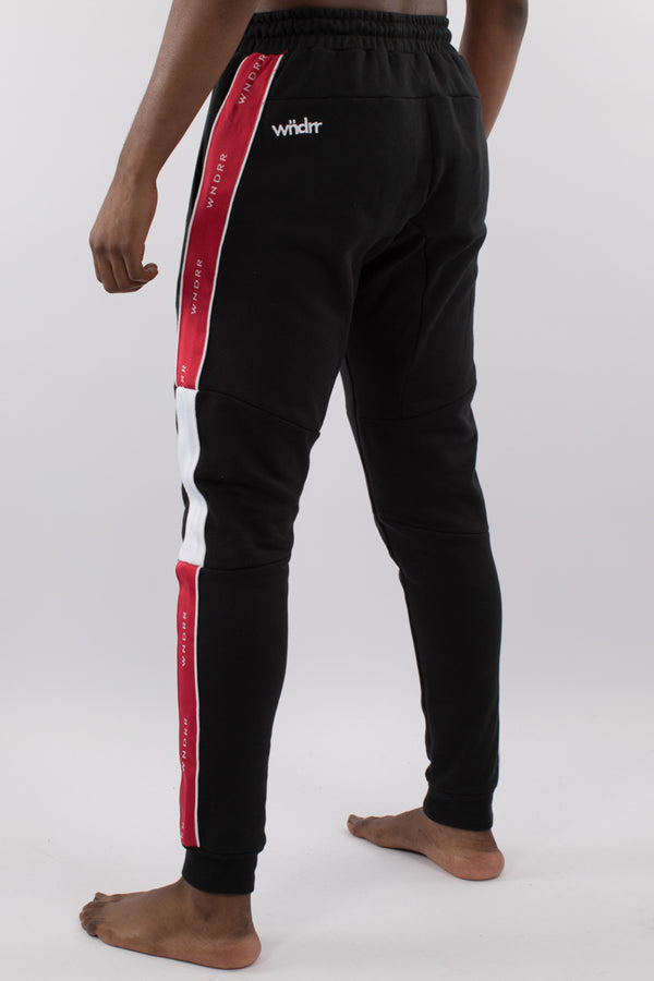 MARSHALL V2 TECH TRACKPANT - BLACK/RED/WHITE