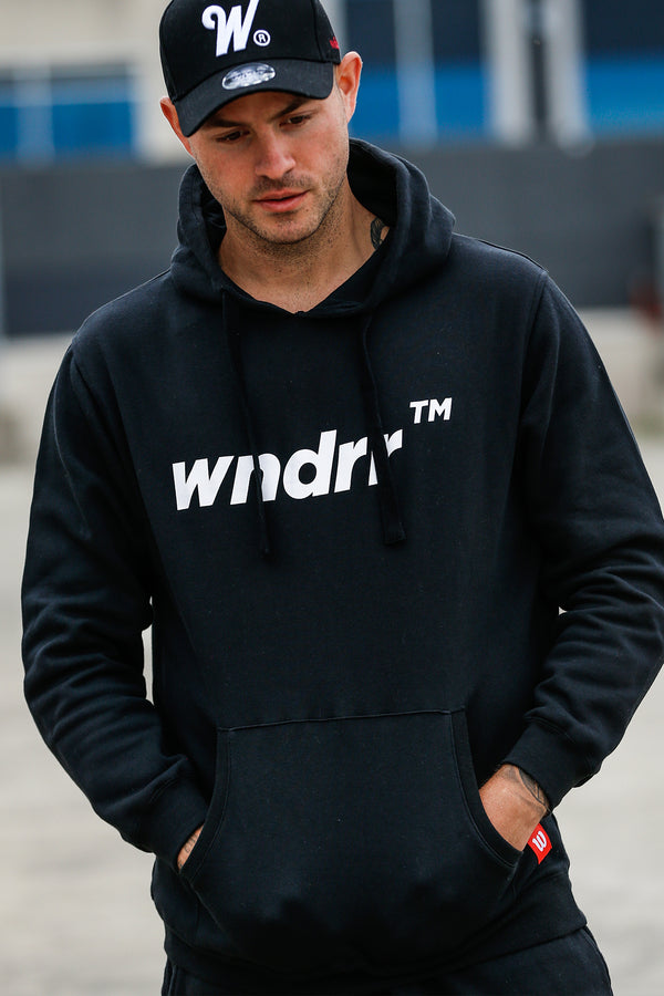TRADEMARK HOOD SWEAT - BLACK