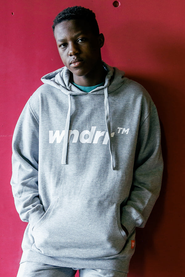 TRADEMARK HOOD SWEAT - GREY MARLE