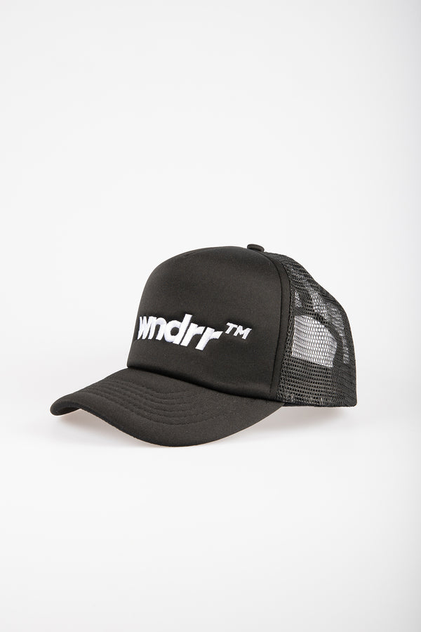 TRADEMARK TRUCKER CAP - BLACK/BLACK