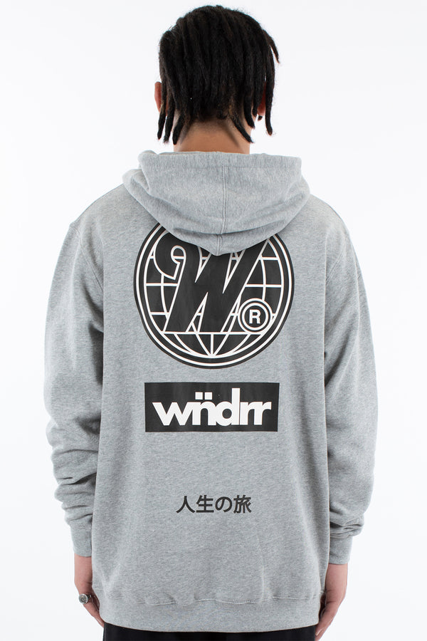 CAPITAL HOOD SWEAT - GREY MARLE