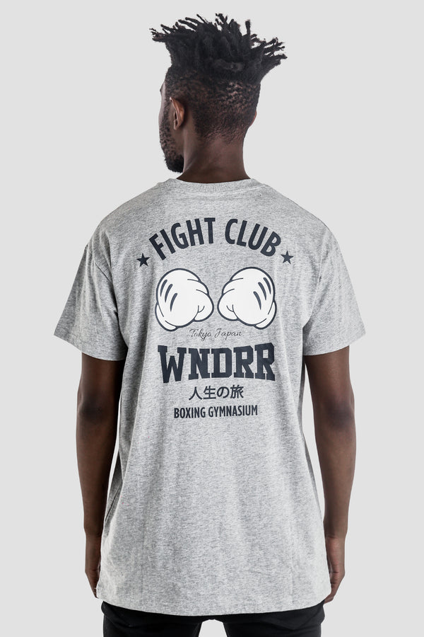 FIGHT CLUB CUSTOM FIT TEE - GREY MARLE