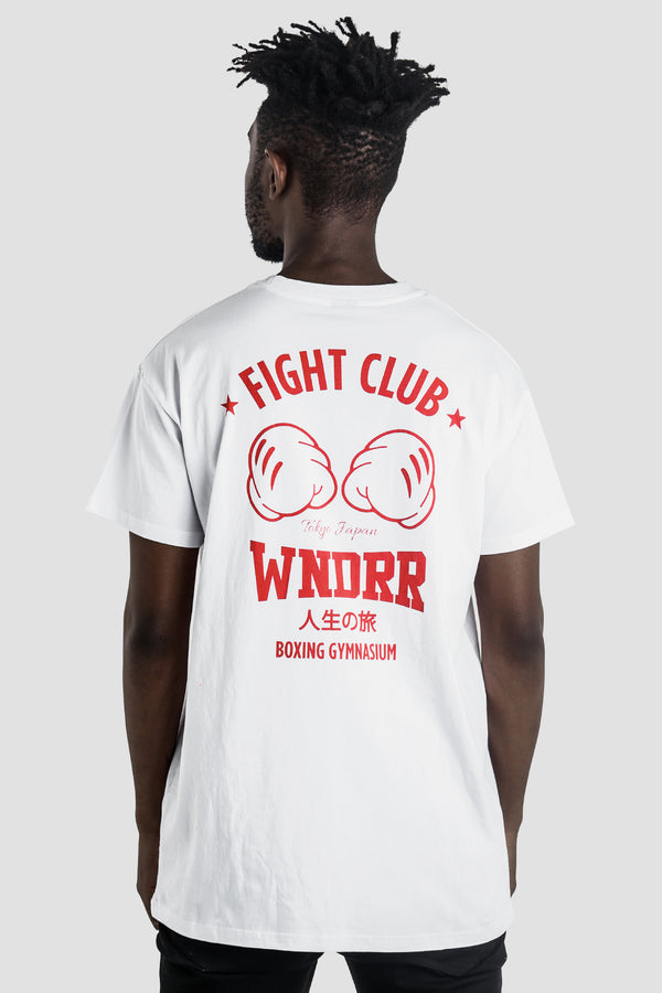 FIGHT CLUB CUSTOM FIT TEE - WHITE