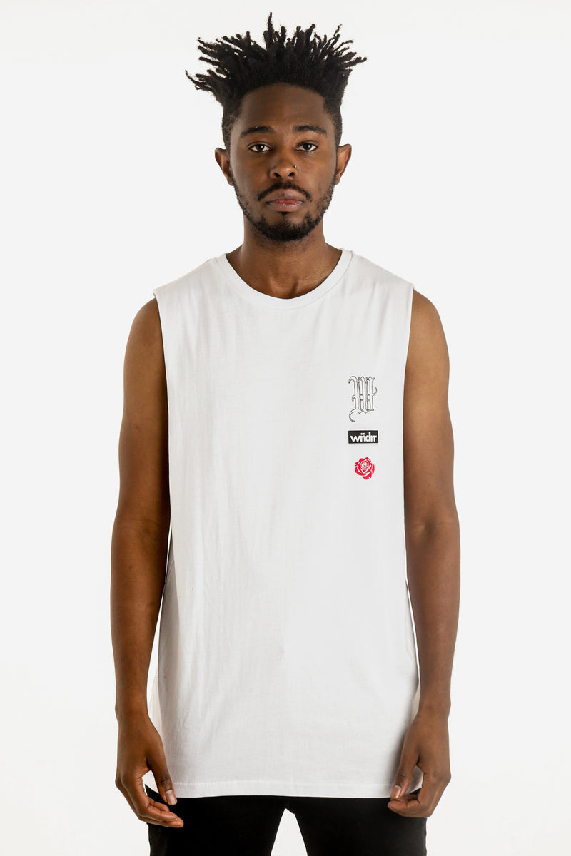 HOMAGE MUSCLE TOP - WHITE