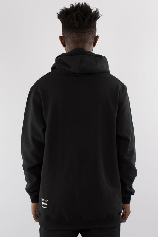 DEPARTURE HOOD SWEAT - BLACK