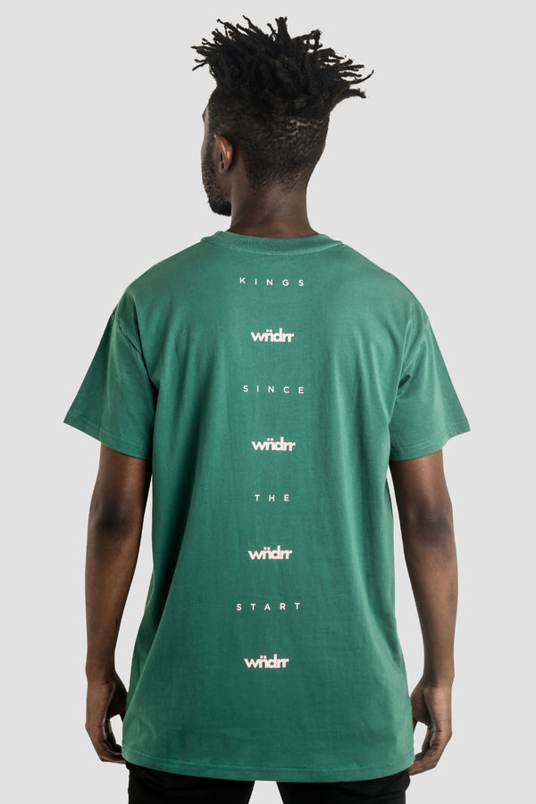 PARKER CUSTOM FIT TEE - FOREST GREEN