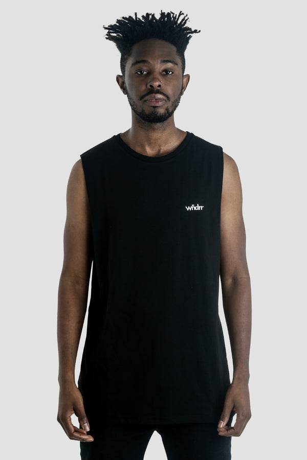 PARKER MUSCLE TOP - BLACK