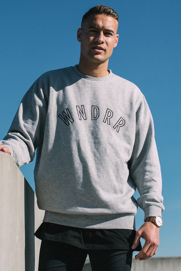 PHILLY CREW SWEAT - GREY MARLE