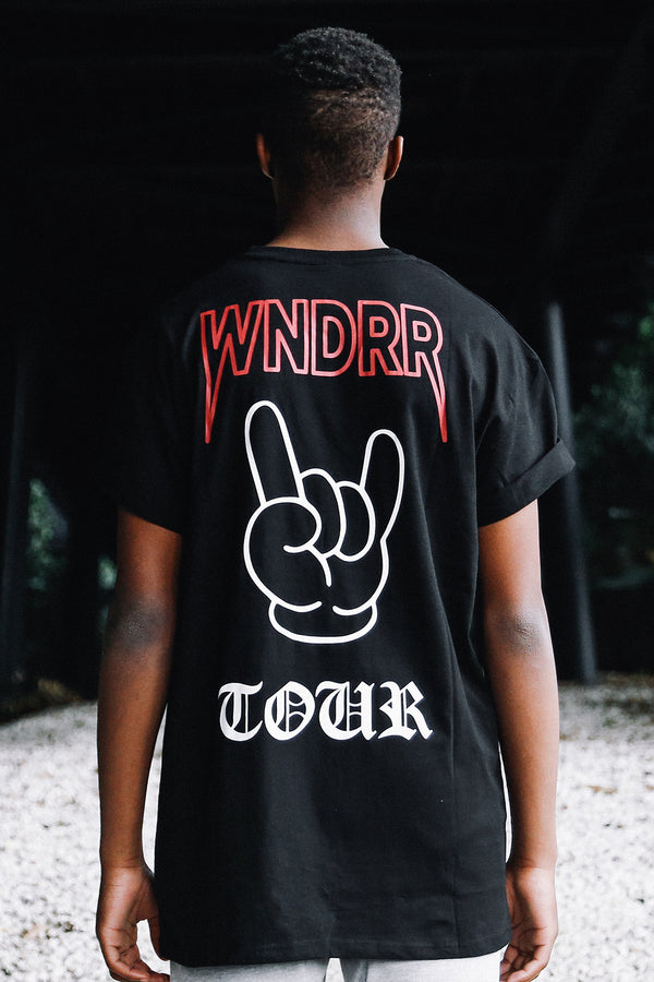 ROCK ON CUSTOM FIT TEE - BLACK
