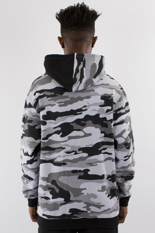 ATLANTA CAMO HOOD SWEAT - SNOW CAMO/BLACK