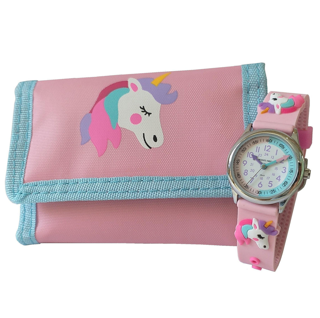 Jacques Farel Unicorn watch and wallet Gift set -HKTD0456-