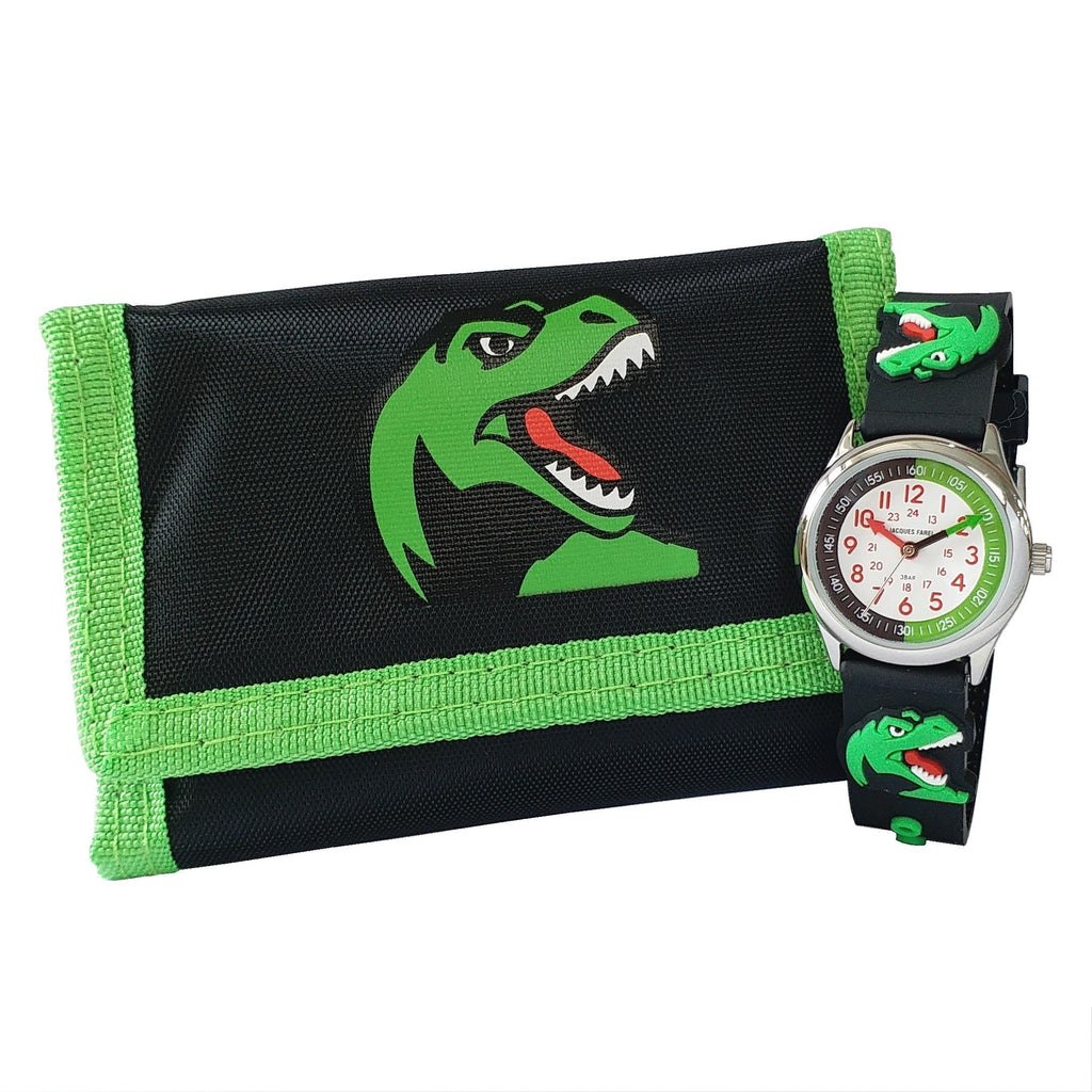 Jacques Farel Kids Dinosaur Watch and Wallet Gift set- HKTD2678-