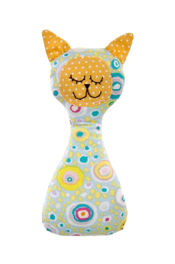 the nest myang rattle yellow kitty baby rattle