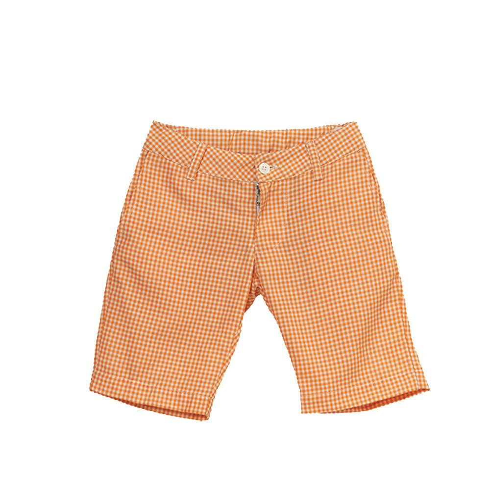 velveteen scott bermuda orange gingham boy shorts