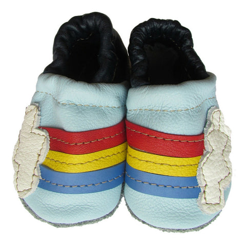 starry knight rainbow soft sole leather baby moccasin